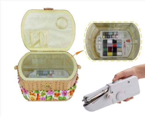 Michley Lil Sew and Sew FS098 Sewing Basket Combo
