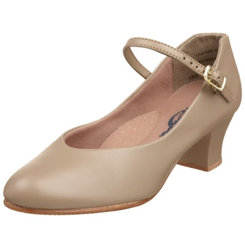 Capezio Women's Jr. Footlight Character Shoe,Tan,8.5 M US