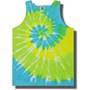 Neon Cool Breeze Tie Dye Tank Tops for Men