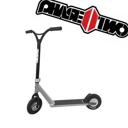 Razor Phase Two Dirt Scoot Diamond Edition Pro Scooter, Silver