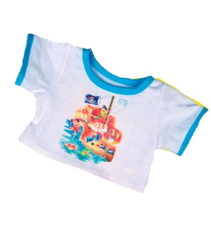 """Treasure Island"" Pirates T-Shirt Outfit Teddy Bear Clothes Fit 14"" - 18"" Build-a-bear, Vermont Teddy Bears, and Make Your Own Stuffed Animals - 1"