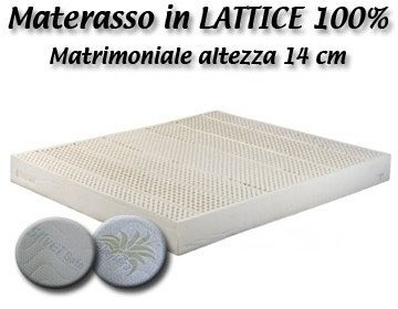 Prezzo Materasso in Lattice 100% Naturale Baldiflex - 120x190x14 cm - Riv. silver safe - 7 zone a portanza differenziata