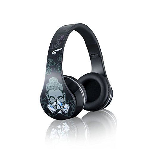 Eagle Tech Arhp300Fc-Bk Urban Zen Dj Style Over-The-Ear Stereo Designer Fasion Headphones-Cleansing Black Includes Hard Travel Case