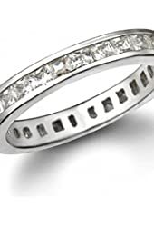 Whitney's 4mm Princess Cut CZ Eternity Ring