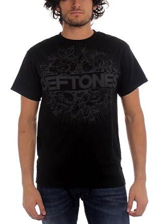 Deftones - - Floral Burst T-Shirt in Schwarz, XX-Large, Black