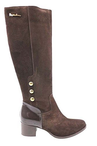 Scarpe donna BRACCIALINI 39 stivali marrone camoscio pelle AN28-F