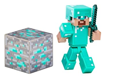 Overworld Diamond Steve 275 Minecraft Mini Fully Articulated Action Figure Series 2 from Minecraft