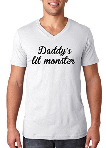 Daddy's Lil Monster Men's V-Neck T-Shirt Small