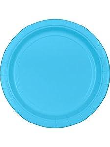 "Bright Blue 9"" Paper Plates, 20ct."