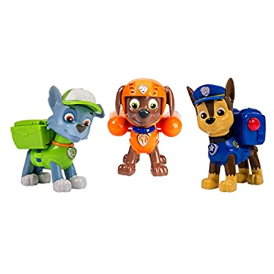 Nickelodeon, Paw Patrol - Action Pack Pups 3pk Figure Set Chase, Rocky, Zuma from Paw Patrol