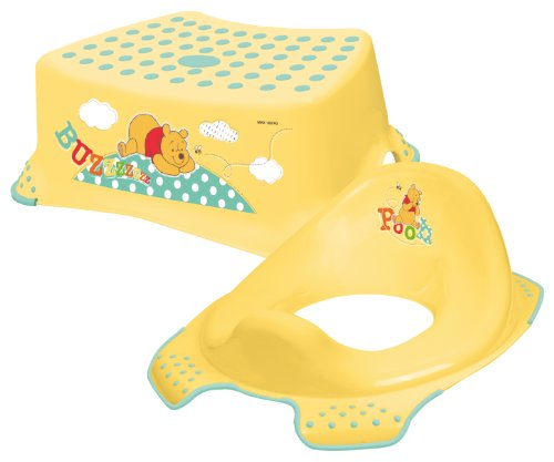 Disney Winnie the Pooh Toddler Toilet Training Seat & Step Stool Combo - Yellow