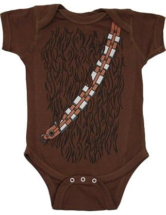 Star Wars Wookiee Coat Infant Bodysuit, Brown, 12-18 Months