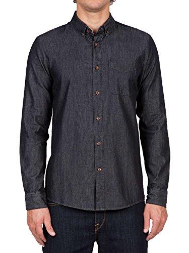 Volcom Hudson L/S-Camicia da uomo, colore: Nero, UOMO, Hudson L/S, nero, XL