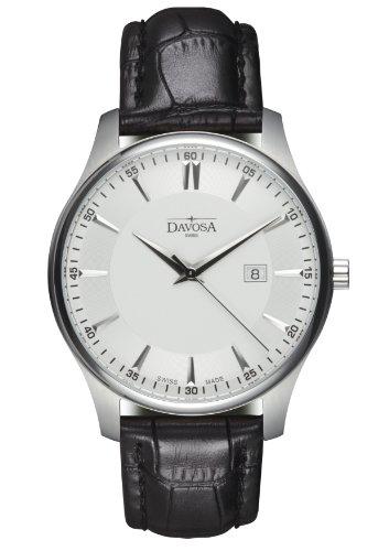 Davosa - 16246615 - Montre Homme - Quartz Analogique - Bracelet Cuir Noir