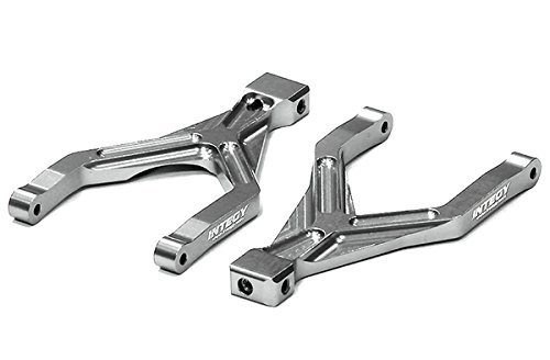 Integy RC Hobby T3551SILVER Billet Machined T2 Rear Upper Arm (2) for 1/16 Traxxas E-Revo VXL & Summit VXL