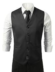 Brand Q 3pc Mens Tuxedo Vest,Neck Ti…