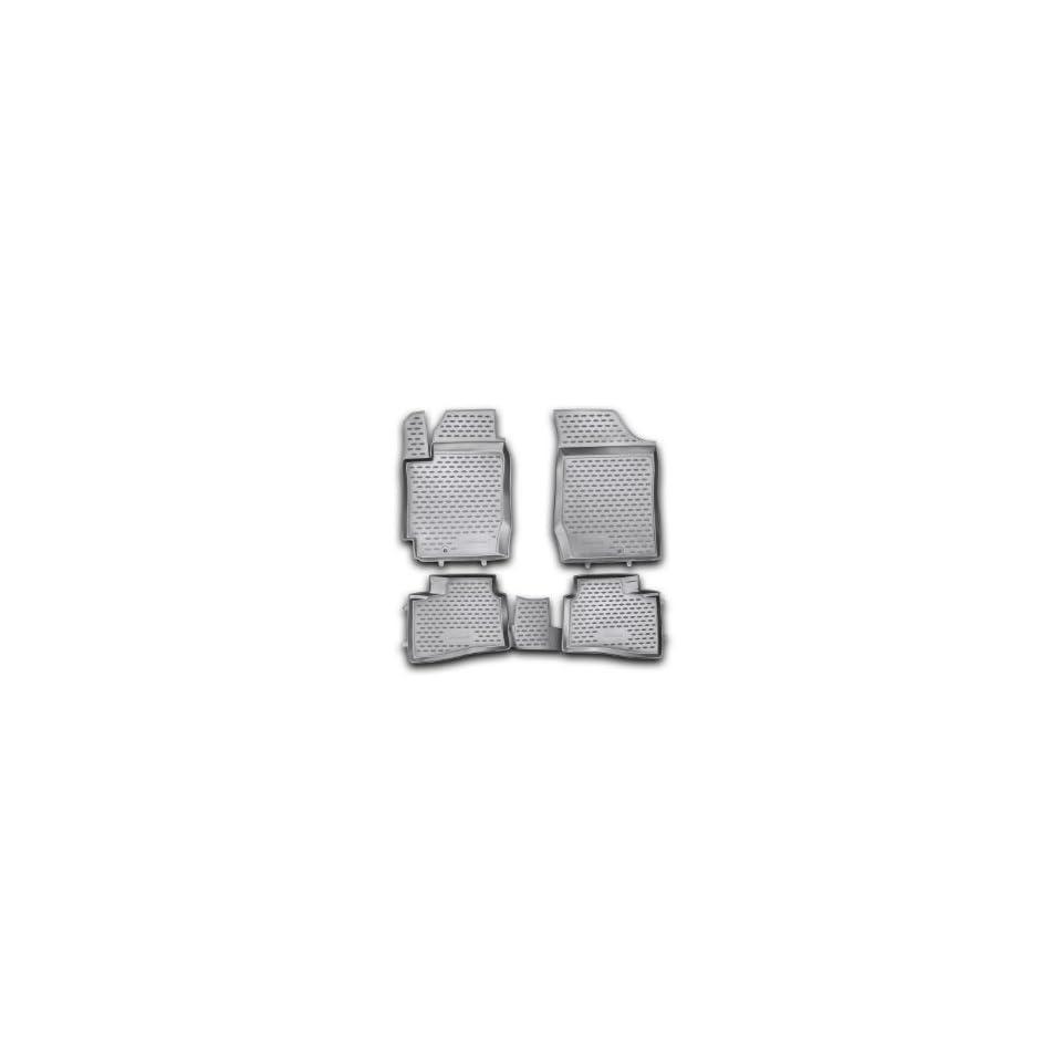 Novline 25.40.210 Kia Forte Koup Floor Mats   Floor Liners   Four (4) Piece Set   Black