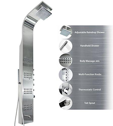 Incroyable AKDY Stainless Steel Rain Shower Panel AZ T8727F Thermalstatic Massage Jets  Rain Style Hand Shower System