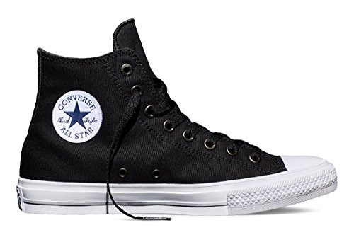 Converse Men's Chuck Taylor All Star II OX Casual Shoes Black/White/Navy 150143C, US Men 10