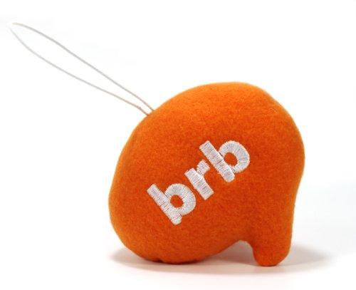 "Throwboy Throwbabies ""BRB"" Chat Mini 3.5"" Throw Pillow, Orange - 1"