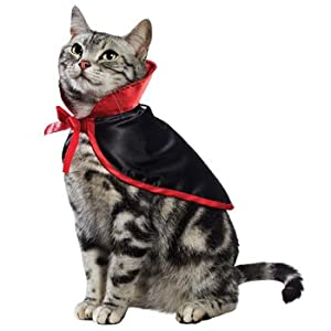 Petco Vampire Cape Halloween Cat Costume, One Size Fits Most