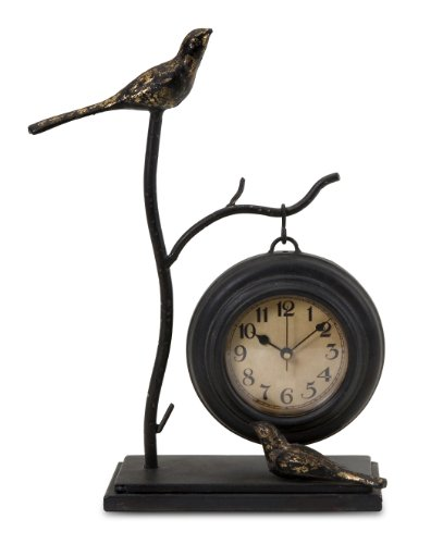 Bird Perch Mantle Table Clock