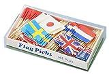 フラッグピック 万国旗 (144本入) (各国混合)