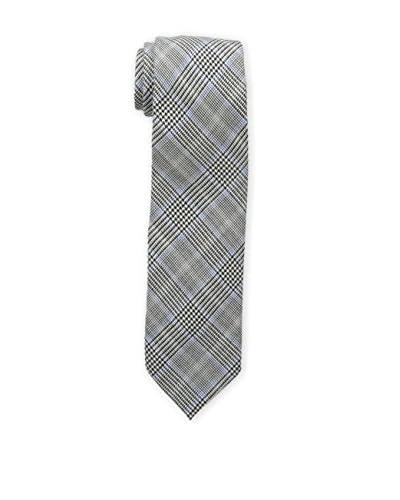 Bruno Piattelli Men's Slim Plaid Tie, Blue