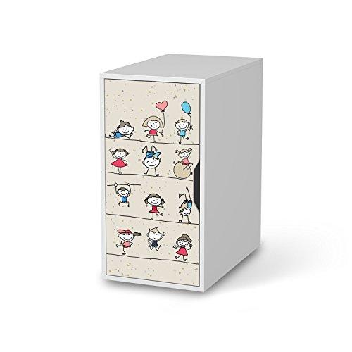 dekorationssticker kinderzimmer f r ikea alex schreibtisch schrank m bel aufkleber folie. Black Bedroom Furniture Sets. Home Design Ideas