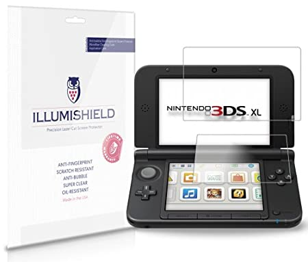 iLLumiShield - Nintendo 3DS XL Screen Protector Japanese Ultra Clear HD Film with Anti-Bubble and Anti-Fingerprint - High Quality (Invisible) LCD Shield - Lifetime Replacement Warranty - [3-Pack] OEM / Retail Packaging