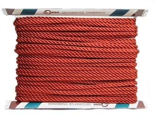 Conso Princess Twisted Cord 3/8 Chinese Red 24 Yards