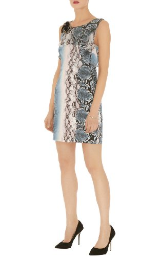 Beaded python print dress