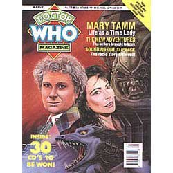 Doctor Who The Official Magazine Issue #178 October 2Nd 1991 Colin Baker