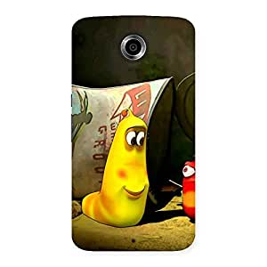 Naughty Cartoon Friends Back Case Cover for Nexsus 6