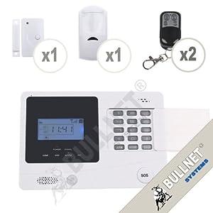 Alarme de Maison Téléphonique GSM avec Ecran LCD et Protection Clavier