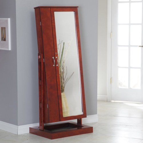 Stand up mirror jewelry box for Large stand up mirror