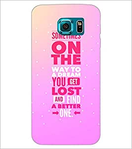 PrintDhaba Quote D-4408 Back Case Cover for SAMSUNG GALAXY S6 EDGE (Multi-Coloured)