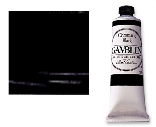 Gamblin fastmatte-alkyd oelfarbe sattes-noir - 150 ml