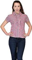 Belle Women's Checkered Casual Shirt (BC 119_40)
