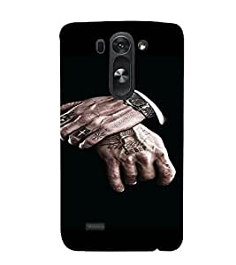 PrintVisa Man Hands Design 3D Hard Polycarbonate Designer Back Case Cover for LG G3 BEAT