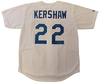 Clayton Kershaw Autographed Los Angeles Dodgers White Jersey W/PROOF, Picture of Clayton Signing For Us, Los Angeles Dodgers, Cy Young Award, Star Pitcher
