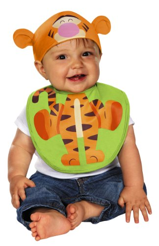 Disguise Baby's Disney Winnie The Pooh Tiger Infant Bib and Hat, Orange/Yellow/Pink/Black, 0-6 Months - 1