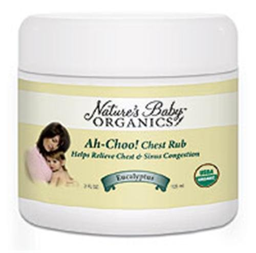 Nbo Ah-Choo Chest Rub - Eucalyptus - Usda - 95% Organic