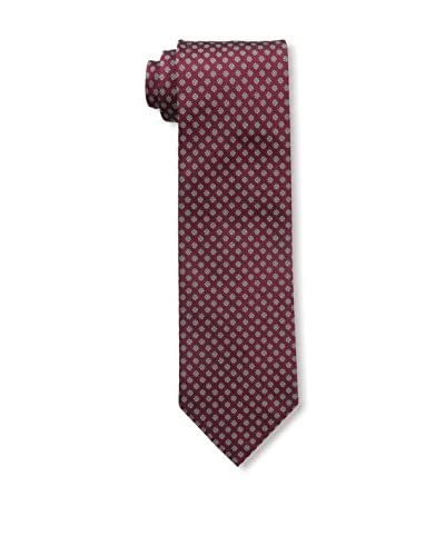 Rossovivo Men's Floral Print Tie, Red