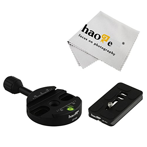 Haoge 64mm Screw Knob Clamp Adapter with 70mm QR Quick Release Plate for Camera Tripod Ballhead Monopod Ball Head Fit Arca Swiss (Arca Type Quick Release Plate compare prices)