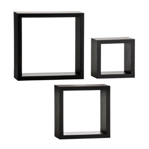 Premier Housewares - Juego de estanter�as en forma de cubos (3 unidades)