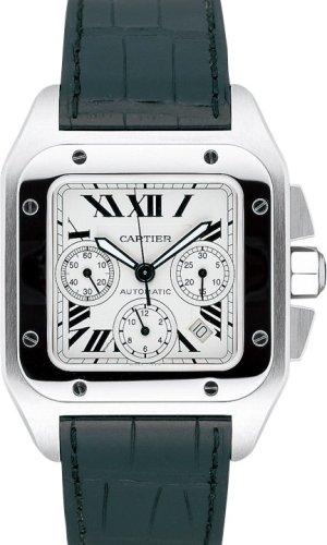 CARTIER SANTOS 100 XL MENS STEEL WATCH W20090X8 Wrist Watch (Wristwatch)
