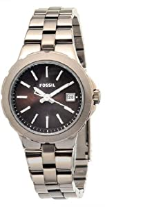 Mens Watch Fossil AM4403 Stainless Steel Case and Bracelet Black Dial Date Disp Mens Watch Fossil
