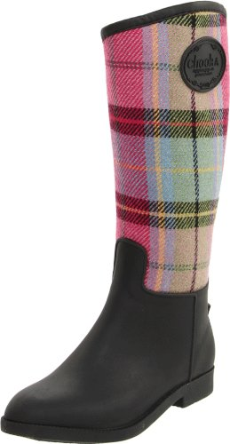 Chooka Women's Fab Plaid Riding Boot,Multi,9 M US