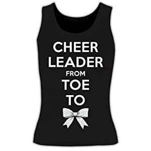 Cheer Leader Toe To Bow Tank Top youth large